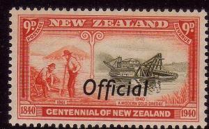 NEW ZEALAND 1940 Centenary 9d OFFICIAL MNH.................................40350