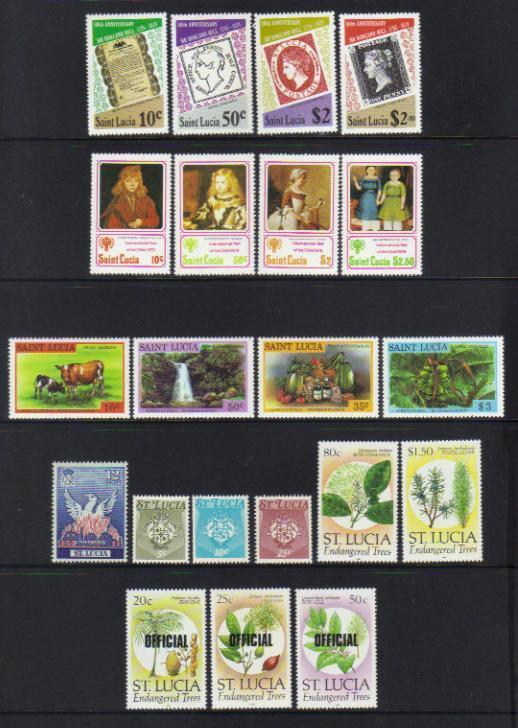 ST LUCIA MOSTLY MNH SETS SELECTION