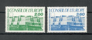 FRANCE-MNH SET- COUNCIL OF EUROPE- BUILDINGS-1987.