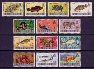 Belize - Scott #312-324 - MNH - Typical patchy gum - SCV $11
