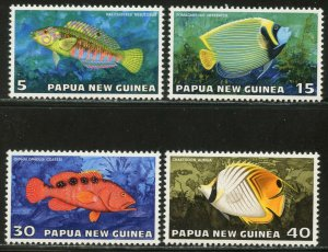 Papua New Guinea MNH 442-5 Tropical Fish 1976