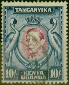 K.U.T 1938 10s Purple & Blue SG149 P.13.25 Fine Used