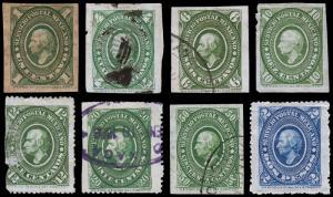 Mexico Scott 150, 153, 155-158, 160, 162 (1884) Mint/Used H G-F, CV $61.60