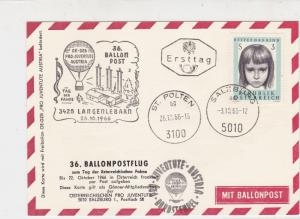 Austria 1966 Building + Flag Slogan Balloon Post Stationary Stamps Card Ref27520