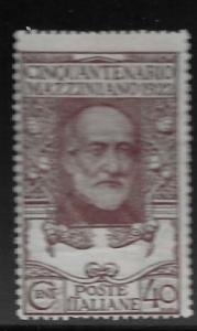 ITALY, 141,  MINT HINGED, GIUISEPPE MAZZINI