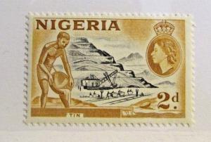 NIGERIA Sc# 83 ** MNH, 2d , industry, tin mining, postage stamp
