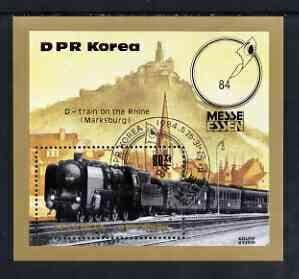 Korea 1984 S/S International Stamp Fair Essen Philatelic Exhibitions Train CTO