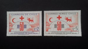 Chile 1969 The 50th Anniversary of League of Red Cross Societies Mint