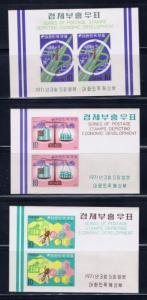 South Korea 744a-46a NH 1971 souvenir sheets