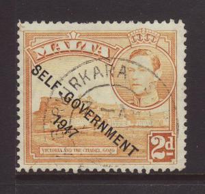 1953 Malta 2d Birkirkara CDS Fine Used SG238c