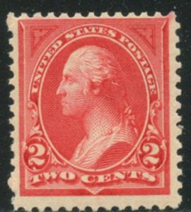 US Sc#265 1895 2c Carmine Type I Watermarked F+ Centered OG Mint NH