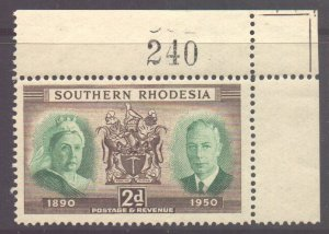 Southern Rhodesia Scott 73 - SG70, 1950 Diamond Jubilee 2d MNH**