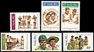 Nauru 244-249, MNH, Scouting Year