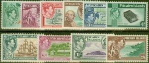 Pitcairn Islands 1940 set of 10 SG1-8 Fine Very Lightly Mtd Mint