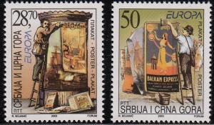 Serbia Scott #187-88 MNH Complete Europa 2003