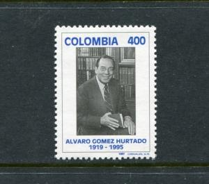 Colombia 1132, MNH, Famous People Alvaro Gomez Hurtado Writer1996. x23453