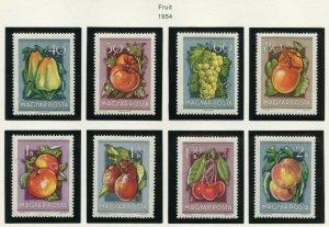 HUNGARY  FRUIT  SCOTT#1088/95 MINT NEVER HINGED AS SHOWN--SCOTT VALUE $10.15
