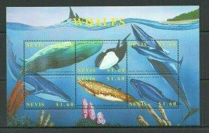 V1397 NEVIS FAUNA FISH & MARINE LIFE WHALES 1KB MNH