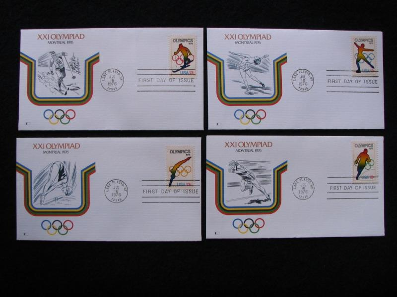 US – 1976 – Set of 4X Olympic Covers