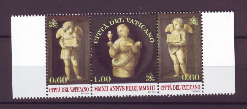 J25226 JLstamps  2013 vatican city strip/3 mnh #1517 religion