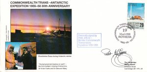 British Antarctic Territory FDC Sc 147 Signed Peter Jeffries Cachet Shackleto...