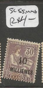 French Alexandria SC 55 MNH some toning on back (9cpp)