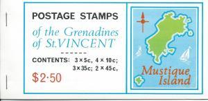 ST. Vincent-Grenadines #96-99 Booklet Mustique Island (MNH)