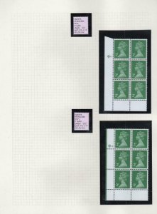 COLLECTION OF UNMOUNTED MINT 2p LITHO MACHIN PLATE BLOCKS ON 8 PAGES