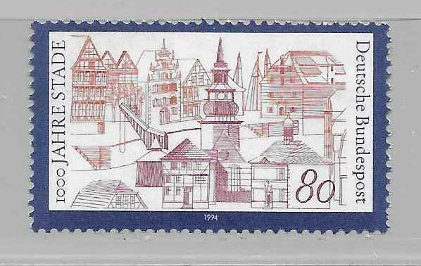 Germany 1820 1000th Staade single MNH