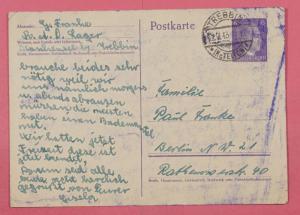 1943 Germany Brandenburg Euthanasia Center Postcard Cover Concentration Camp