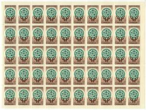 Canada - #395 -1961 Resources for Tomorrow Sheet of 50 mint - F+-VF NH