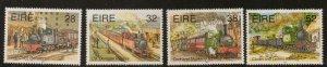 IRELAND SG941/4 1995 TRANSPORT NARROW GAUGE RAILWAYS MNH