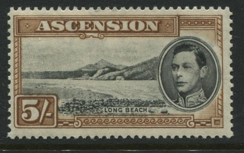 Ascension KGVI 1944 5/ mint o.g. perf 13 1/2