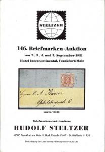 Steltzer: Sale # 146  -  146. Briefmarken-Auktion, Steltz...