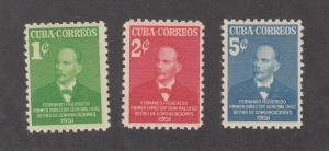 Cuba Scott #455-457 MH