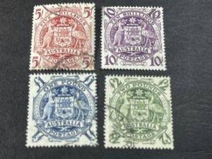 AUSTRALIA # 218-221-USED-----COMPLETE SET----1949-50(LOTC)