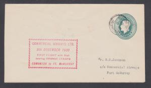 Canada Sc CL50 on 1930 Commercial Air First Flight Cover EDMONTON-FT.McMURRAY