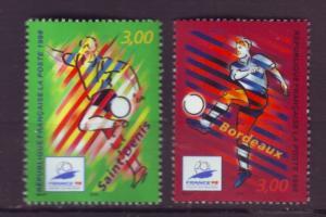 J20350  jlstamps 1998 france set mnh #2623-4 sports