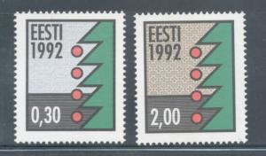 Estonia Sc 235-6 1992 Christmas stamp set mint NH