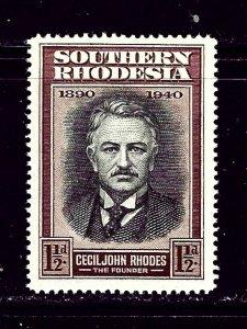 Southern Rhodesia 58 MNH 1940 Cecil Rhodes