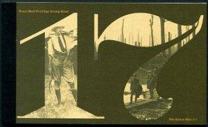 HERRICKSTAMP GREAT BRITAIN Sc.# BK217 WW I 1917 Prestige Booklet