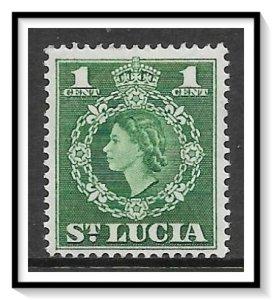 St Lucia #157 QE II MH