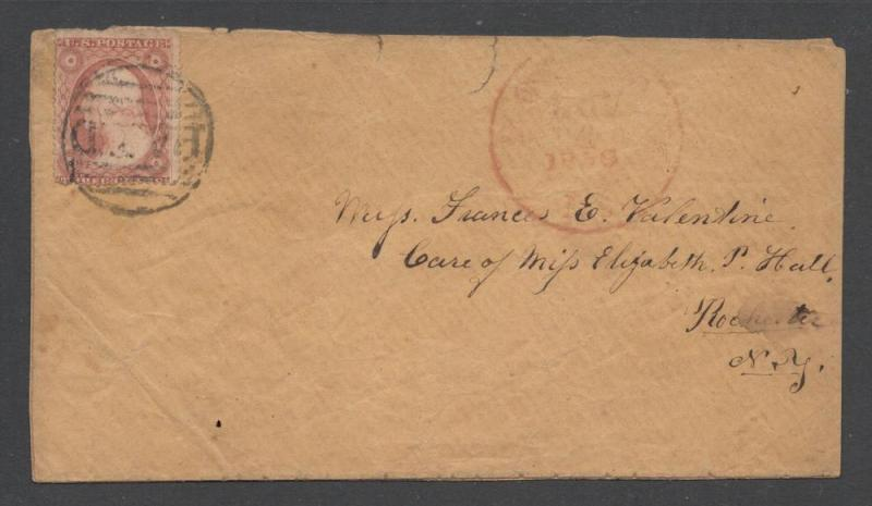 US#26A Type IV, Possibly #26 Type III On Cover - PAID Cancel
