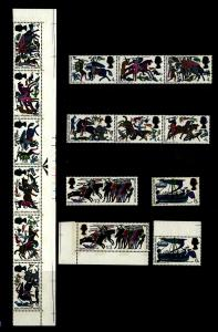 GB 1966 Battle of Hastings Selection Singles & Strips 16 Stamps MNH