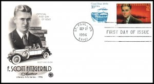 US 3104 F Scott Fitzgerald PCS U/A FDC