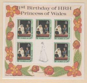 Turks & Caicos Scott #532 Stamps - Mint NH Souvenir Sheet