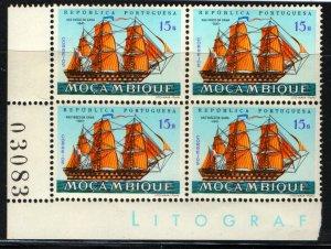 MOZAMBIQUE 452 MNH PLATE BLOCK  VASCO DA GAMA  1841 SHIP