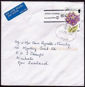 ST HELENA 2007 commercial airmail cover to New Zealand...........32957