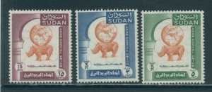 Sudan 121-3  MNH cgs