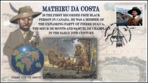CA17-002, 2017, Mathieu Da Costa, First Day Cover, Explore,